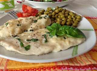 Denny Chef Blog: Petto di pollo al basilico e piselli