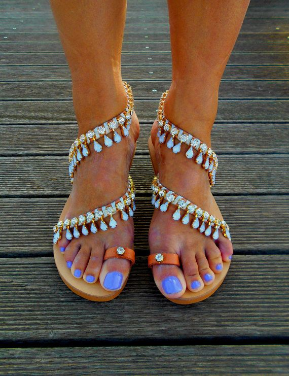 "Luxury Sandals ""Gatsby's"", Bridal Sandals, Wedding Sandals, Crystal Sandals"