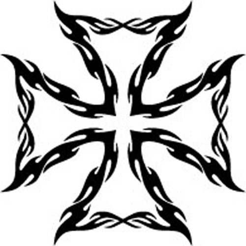 Tribal Iron Cross Vinyl Decal  Sticker Car Truck Tattoo