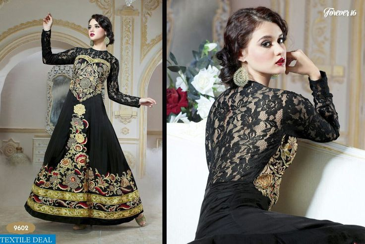 54% Flat Off on Unique Pure Georgette Forever Gown with Hand Embroidery only at @Textiledeals