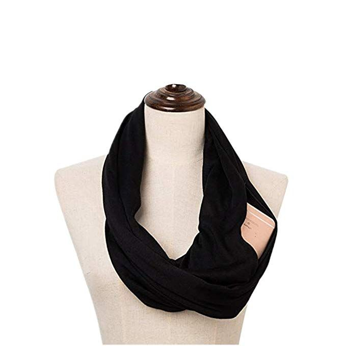 dbc633460 Thicken Plain Infinity Scarf with Pocket for Women Travel Scarf for Winter  Spring #Fashion Scarves, #Scarves & Wraps, #Accessories, #Women, #Clothing,  ...