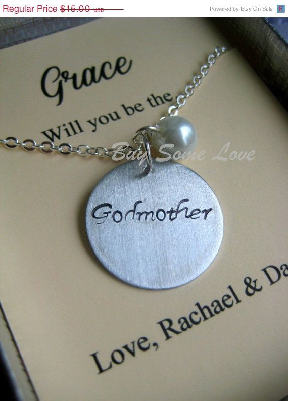 30 off SALE Godmother Handstamped Necklace Other by buysomelove, $10.50