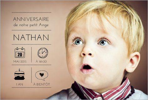 Invitation anniversaire bébé