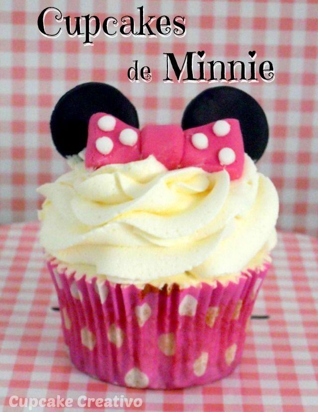 Cupcake Creativo: Cupcakes de Minnie (Vídeo-Tutorial)