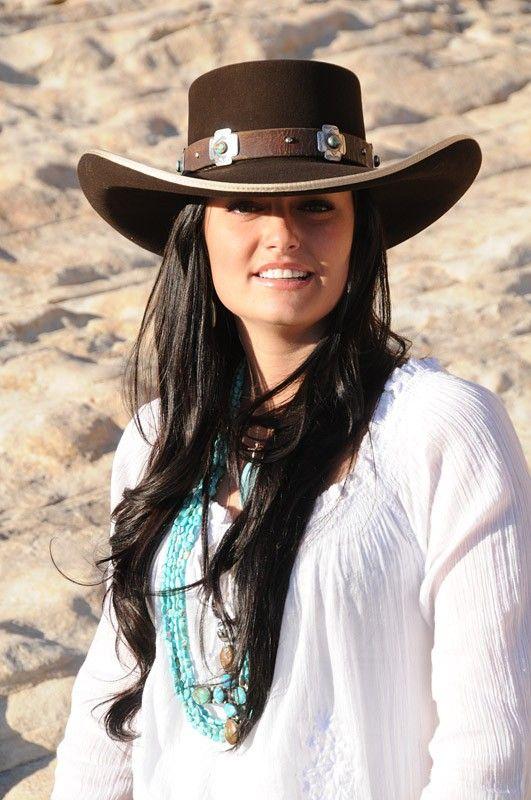 Chocolate brown felt cowboy hat