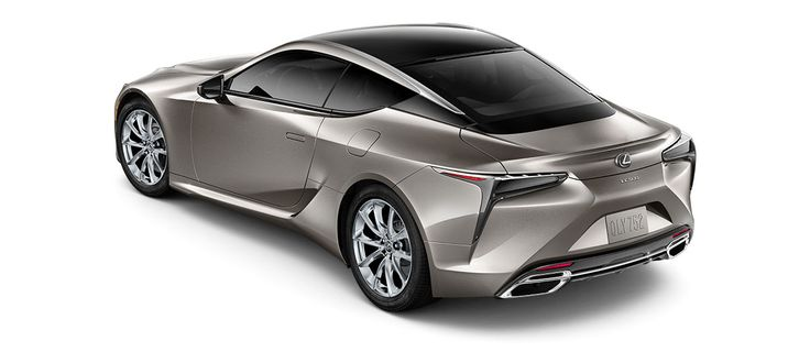 "2018 LC 500 in Atomic Silver with 20-inch 10-spoke forged alloy wheels with polished finish<span class='tooltip-trigger disclaimer' data-disclaimers='[{""code"":""TIREWEAR4"",""isTerms"":false,""body"":""20-in performance tires are expected to experience greater tire wear than conventional tires.  Tire life may be substantially less than 20,000 miles, depending upon driving conditions.""}]'><span class='asterisk'>*</span></span>, angle 4"