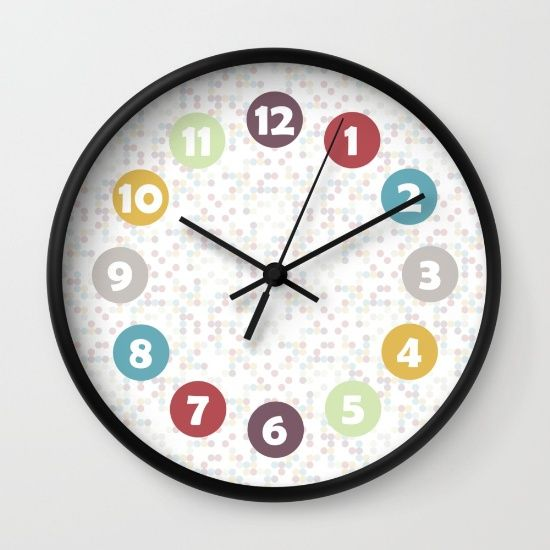 Wack-a-Doodle Dots  Wall Clock