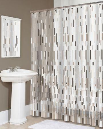 Bars Beige Shower Curtain Shower Curtains Bath Linens