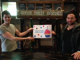 """Cheers! offer: $1 coffee on 30 August if you wish Queen St Rescue eatery staff """"Happy Melb Day!"""". Also, free coffee with any b'fast. HappyHour starts noon. #MelbourneDay"""