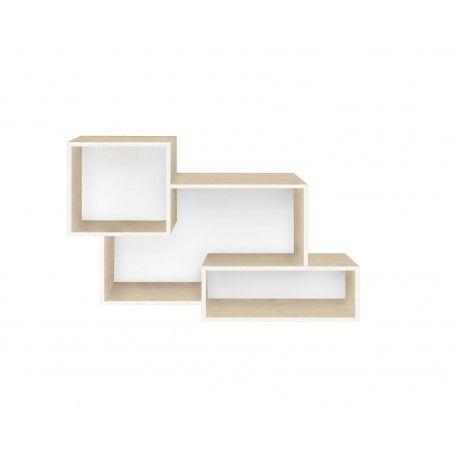 <p>Original Estanteria a Pared con tres compartimentos. Fabricada en madera contrachapada. Made in Spain. <br /><br />Medidas: 60.0 x 16.0 x 37.0 cm</p>