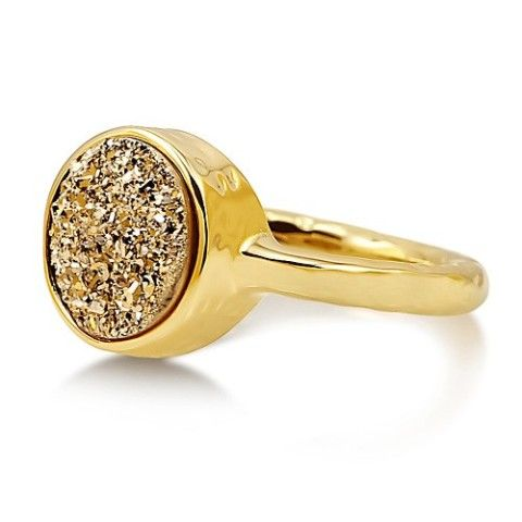 Druzy Quartz Ring. This will add sparkle and shine to your holidays:)