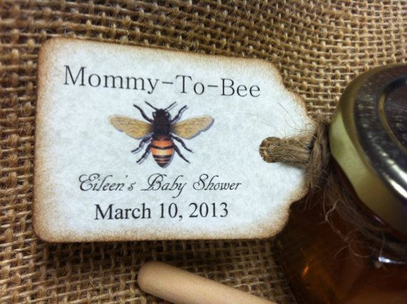 Mommy To Bee 40 Qty mini honey favors with by holyhoney on Etsy, $132.00