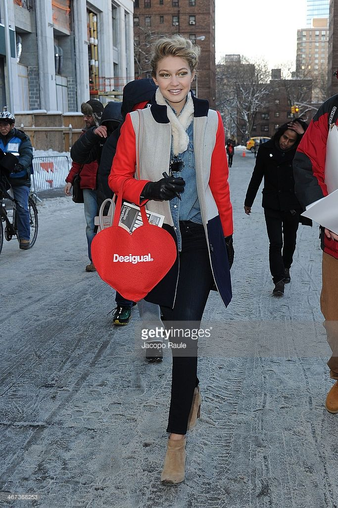 Gigi Hadad is seen at Lincoln Center for the Performing Arts on February 6, 2014 in New York City.