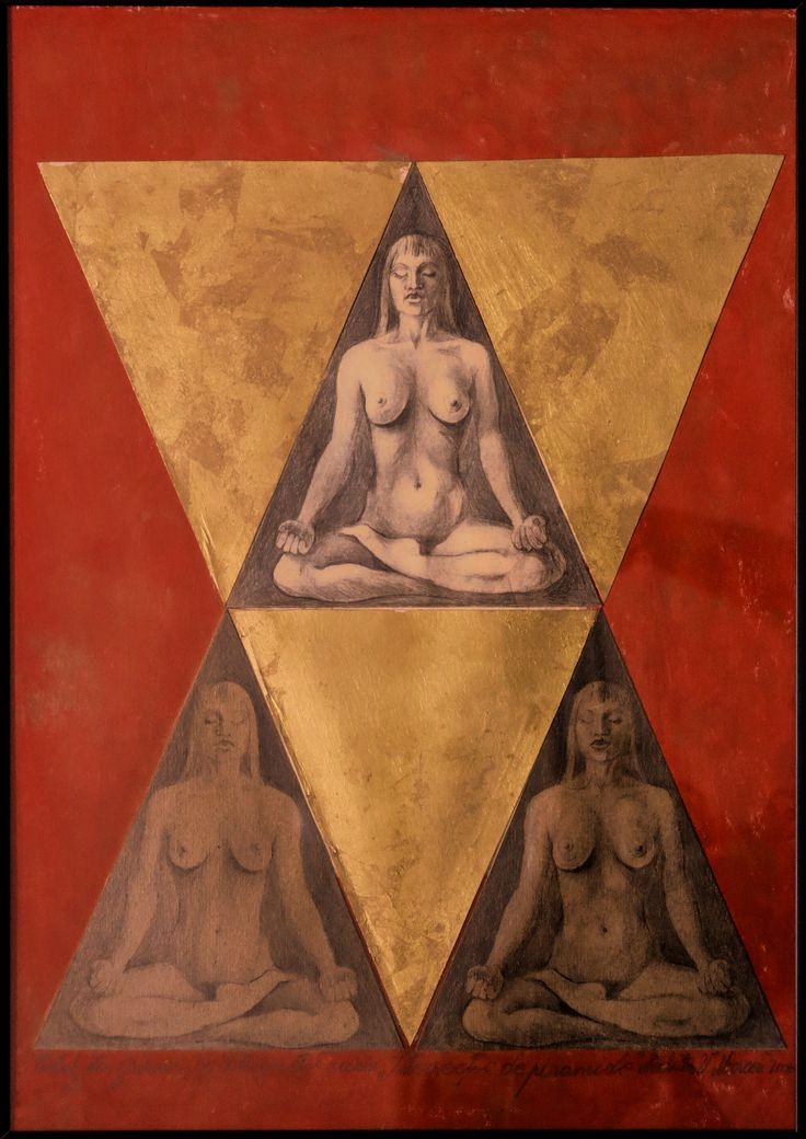 Piramide intersectate, gravuri in pointe seche si schlagmetal