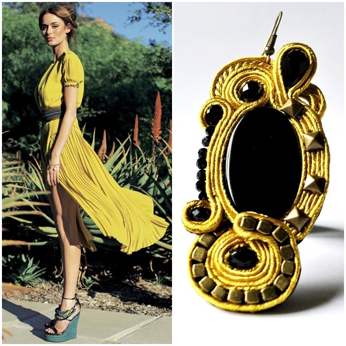 earring outfit  If she wore CLEO' #earrings with this #outfit?  http://edefjewels.blogspot.it/2012/10/cleo-glamrock.html