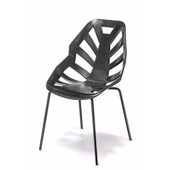 Set 2 černých židlí Ninja, lakované černé nohy | Bonami