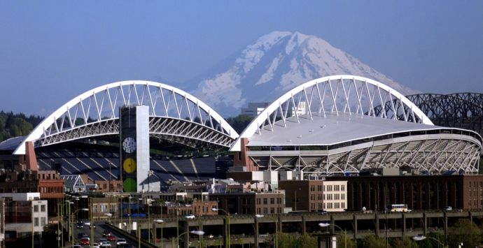 Century Field located in Seattle, Washington, was designed by AECOM in association with LMN Architects, and is home to the National Football League's Seattle Seahawks and the Seattle Sounders Football Club of Major League Soccer.The 720-foot roof span covers 70 percent of the seats and reflects noise back onto the field while still allowing for dramatic open views of the downtown skyline, the Puget Sound and snow-capped Mount Rainier.