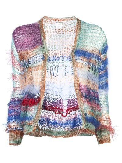Inspiration RODARTE - SKINNY KNIT CARDIGAN. Note to self:  knit this in various stash Habu yarns