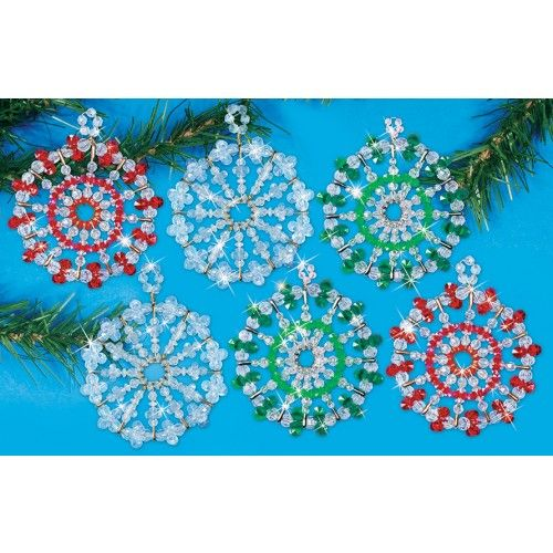 Christmas Safety Pin Bead Crafts