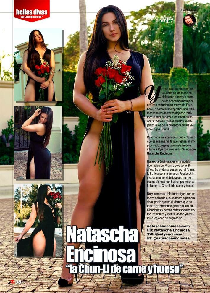 """Natascha Encinosa este mes en """" Bellas Divas"""" solo en Shock Magazine"""