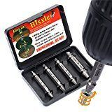 #3: Damaged Screw Remover Set - Extractor Set by Aisxle - Easily Remove Stripped or Damaged Screws - Set of 4 Stripped Screw Removers