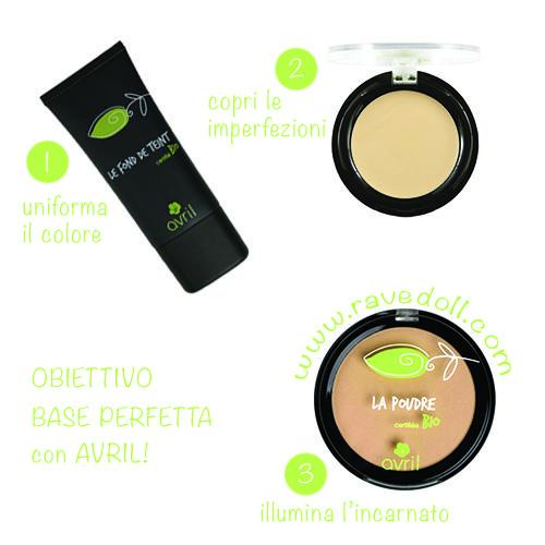 Ciao ragazze!  Obiettivo BASE PERFETTA con AVRIL! 1 - Applica il fondo per uniformare il colore della pelle; 2 - Usa il correttore per coprire brufoli e occhiaie; 3 - Perfeziona e illumina l'incarnato con la cipria; Tutti i prodotti Avril nuovamente disponibili sul nostro shop online!  http://www.ravedoll.com/160-avril-bio #baseperfetta #cosmeticinaturali #seguilafogliolinaverde!