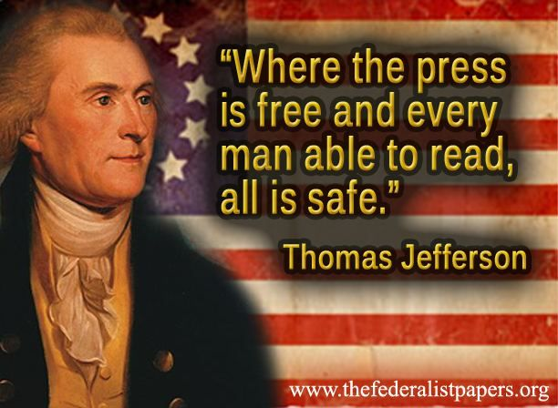 Thomas Jefferson Quote & Poster – Where the Press is Free