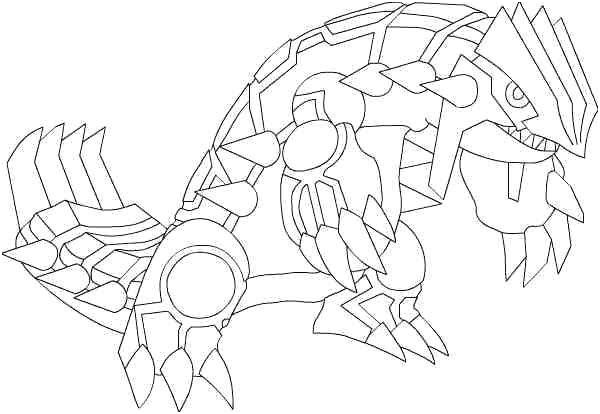 Coloriage Pokemon Legendaire Groudon Pokemon Coloring Pages