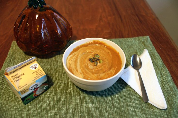 Simple Pumpkin Soup: carb from pumpkin and fat from coconut milk!