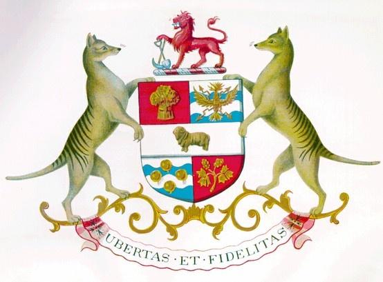 Coat of Arms of Tasmania, Australia