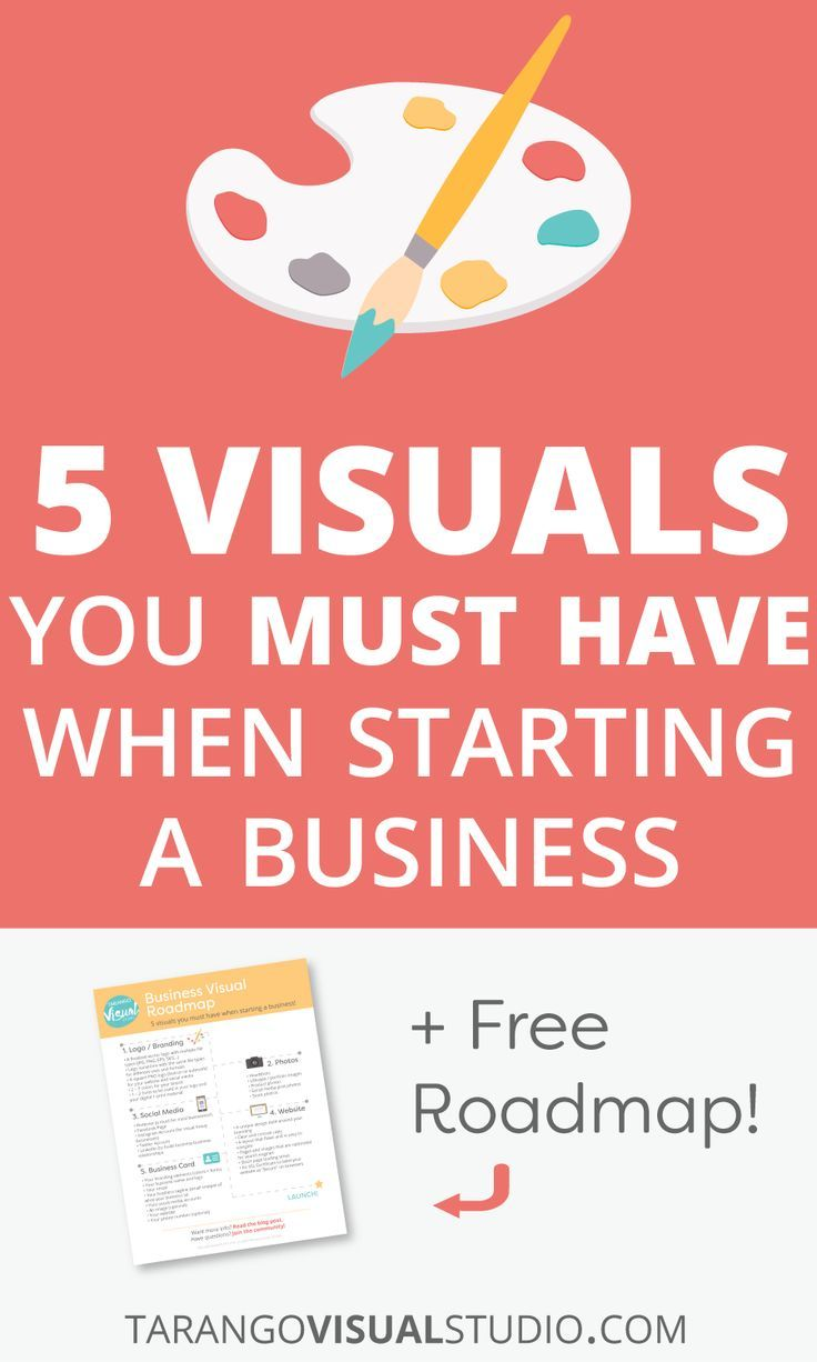 5 Visuals You Must Have When Starting a Business + Free Roadmap! - Tarango Visual Studio