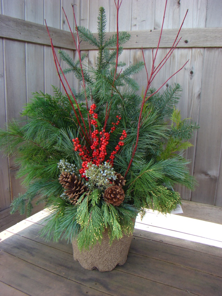 Outside Christmas Arrangement For The Home Pinterest