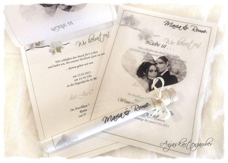 Einladungen Im Glas Hochzeit   Www.anjaskartenzauber.net Gastgeschenke  Einladungen Schokoladen Hochzeit Taufe Geburtstag
