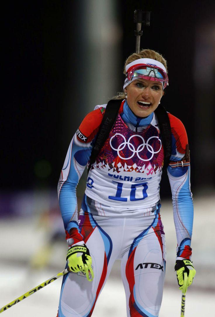 DAY 11:  Gabriela Soukalova of the Czech Republic competes during Biathlon Women's 12.5km Mass Start http://sports.yahoo.com/olympics