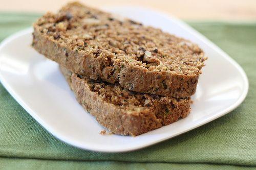 Vegan Zucchini Bread, whole grain, lightly sweetened