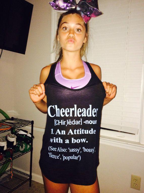 Cheerleader Definition Shirt by SizeMattersCheerBows on Etsy