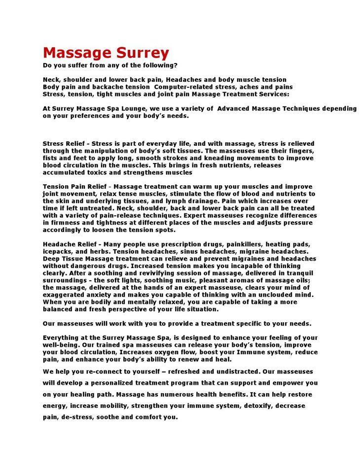 MASSAGE SURREY $35 ONE HOUR  MASSAGE IN SURREY BC  IMPECCABLE SERVICE   UNBEATABLE PRICE  www.SurreyMassageSpa.com