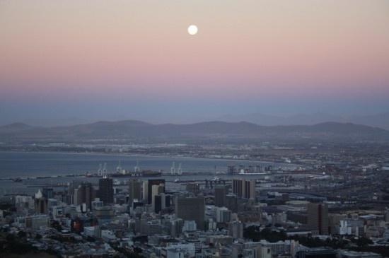 Cape Town skyline at dusk