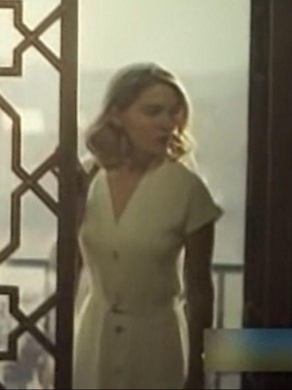 Spectre White Button Down Dress