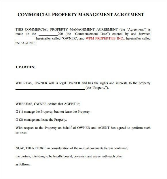 Property Management Agreement Template Free from i.pinimg.com