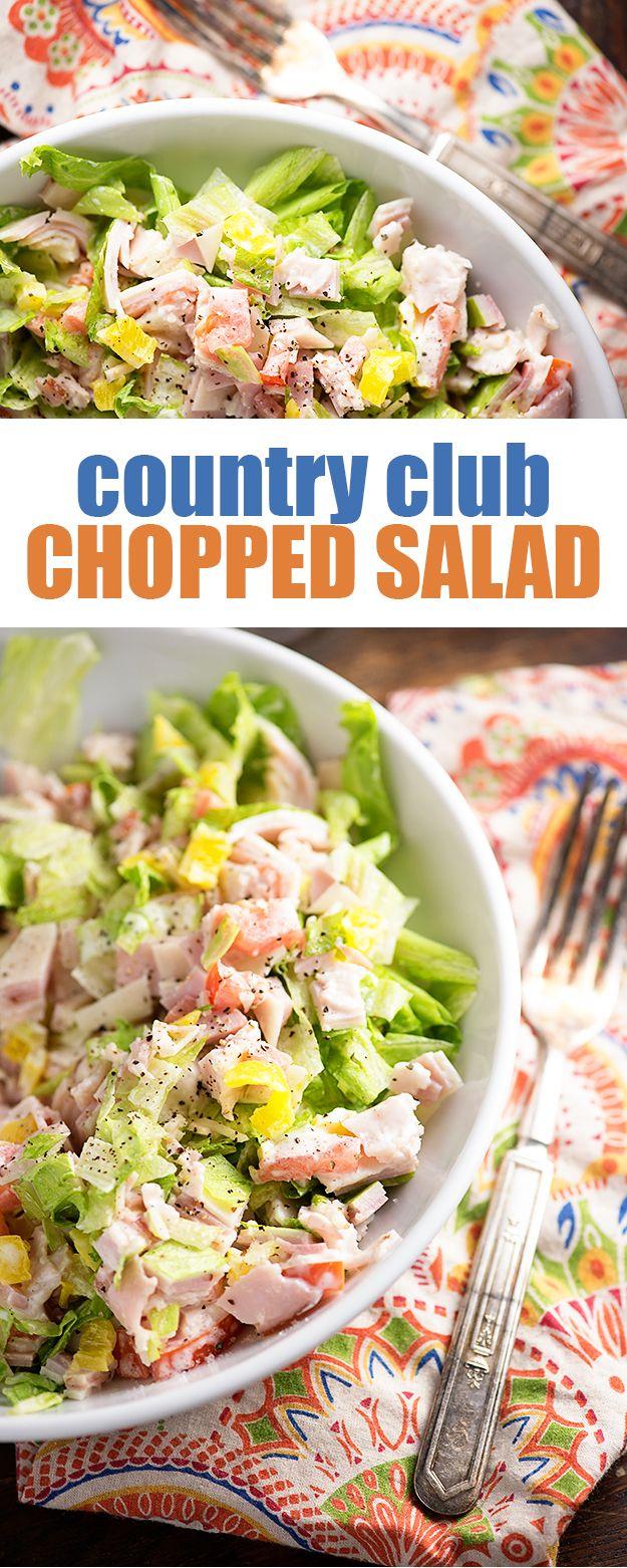 Country Club Chopped Salad FoodBlogs.com