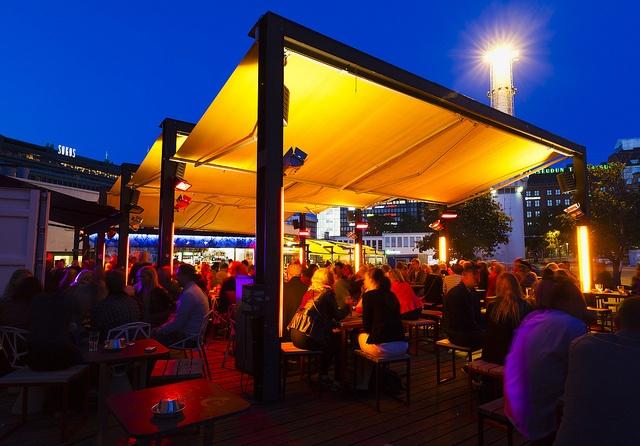 Mbar Terrace in  Helsinki by Visit Finland, via Flickr
