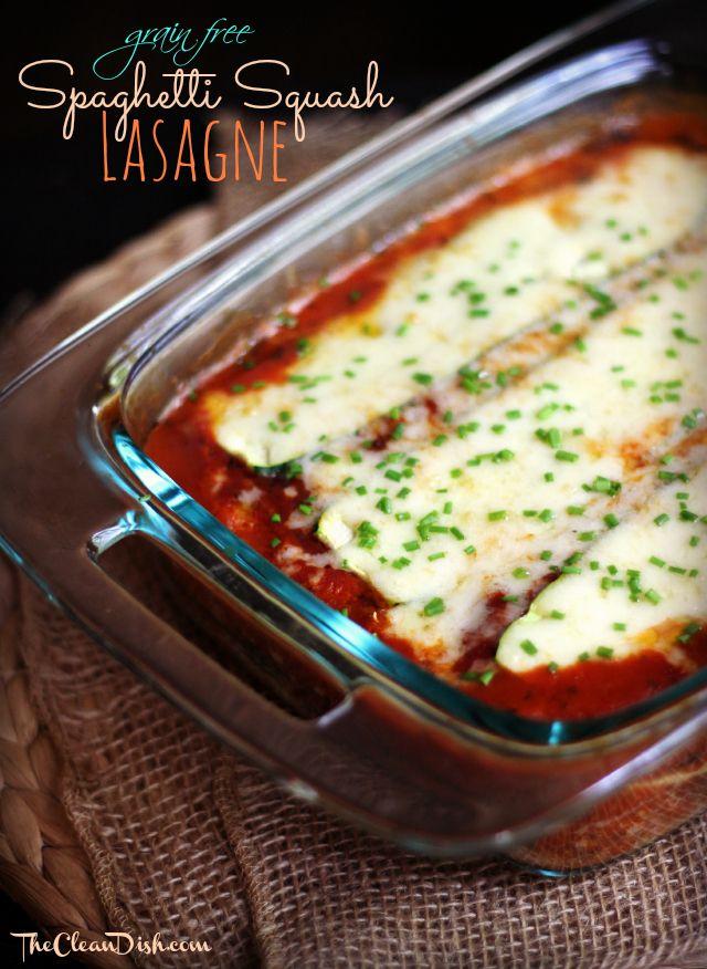 Spaghetti Squash Lasagne (grain free)