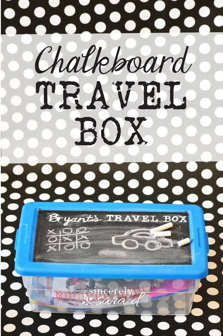 Chalkboard Travel Boxes are great way to entertain the kids (electronic free!) on road trips. And, you can make one for around $5!