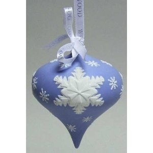 Wedgwood Christmas ornament. It's too pretty not to pin