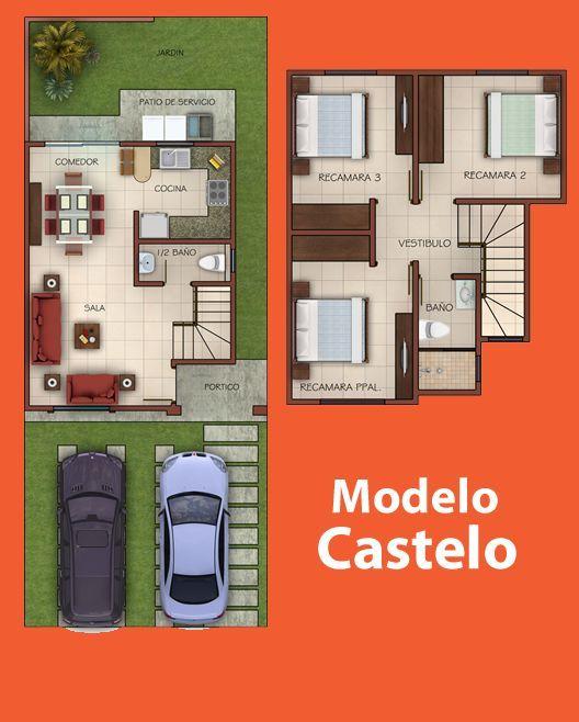 Casas en Venta y Departamentos: Casa Muestra modelo Castelo en Residencial Portalegre en Sinaloa