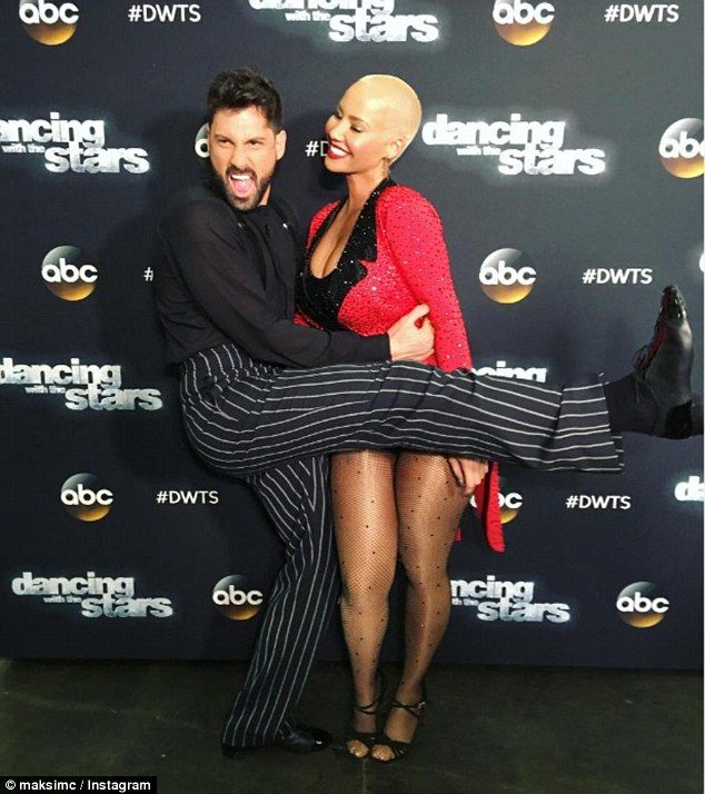 'You made me proud': The platinum blonde bombshell was eliminated from DWTS last Monday after dancing with Val's brother, Maksim Chmerkovskiy, this season