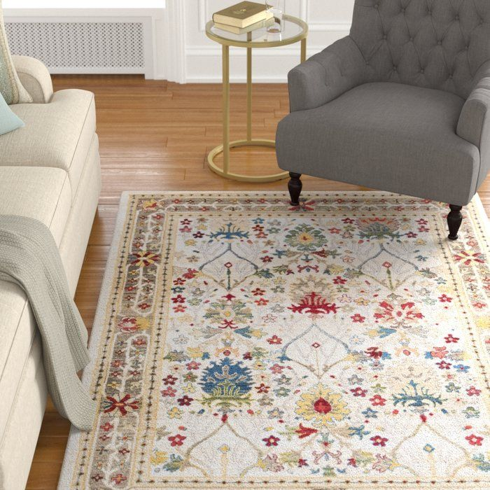 Arbouet Traditional Floral Dark Red Cream Area Rug With Images