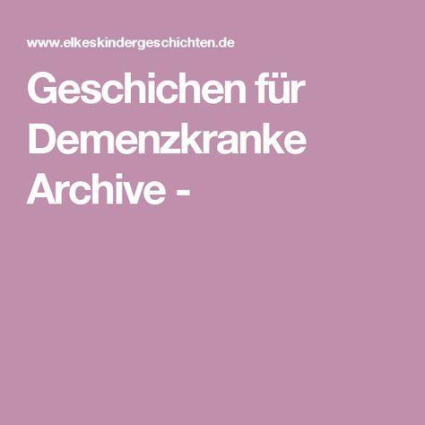 Geschichen für Demenzkranke Archive -