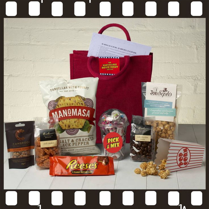 The Marvellous Movie Night Gift Bag With Movie Trivia - £25.50